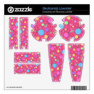Cute pink baby rattle pattern skullcandy decal