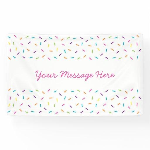 Cute Pink Baby Sprinkle Banner