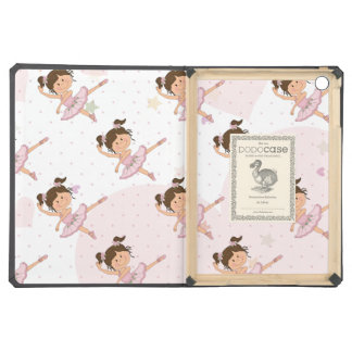 Cute Pink Ballerina 1 Pattern Hearts and Stars iPad Air Cover
