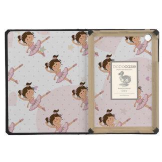 Cute Pink Ballerina 1 Pattern Hearts and Stars iPad Mini Retina Covers