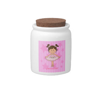 Cute Pink Ballet Girl On Stars and stripe Candy Dish