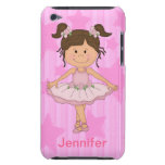 Cute Pink Ballet Girl On Stars and stripe iPod Case-Mate Cases