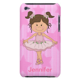 Cute Pink Ballet Girl On Stars and Stripes iPod Case-Mate Cases