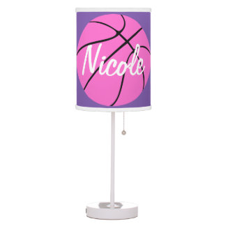 Cute Pink Basketball Desk Lamp