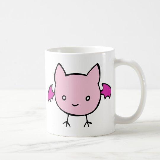 Cute Pink Bat Coffee Mug