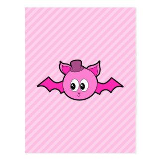 Cute Pink Bat. Postcard