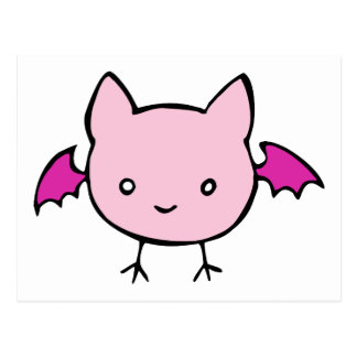Cute Pink Bat Post Card