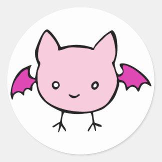 Cute Pink Bat Sticker
