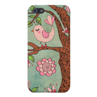 Cute Pink Bird in Red Boots Case For iPhone SE/5/5s