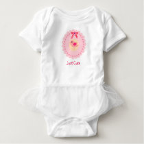 Cute Pink Bird Tutu For Baby Girl Baby Bodysuit