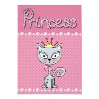 Cute Pink Birthday Party Princess Kitty Cat Custom Invite
