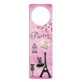 Cute Pink Black Paris Fashion Eiffel Tower Door Hanger
