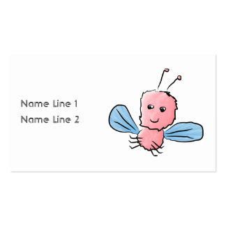 Cute Pink Bug Flying Insect Business Card