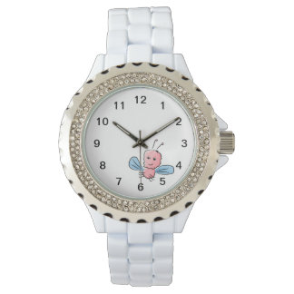 Cute Pink Bug Flying Insect Watch