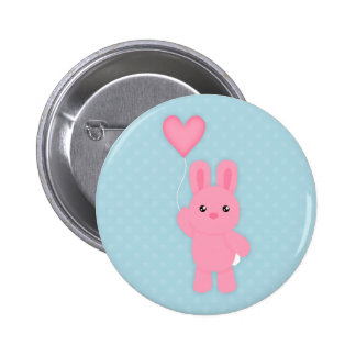 Cute Pink Bunny Buttons
