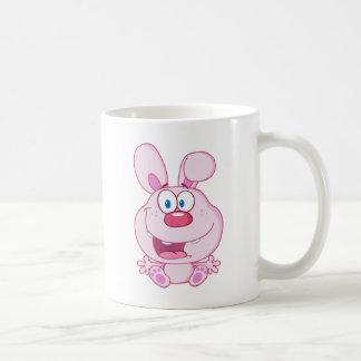 Cute Pink Bunny Cartoon Character Coffee Mug