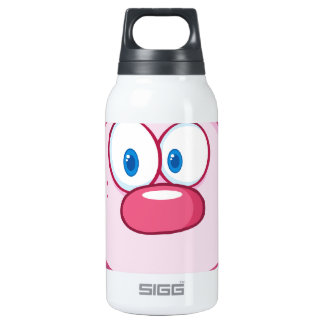Cute Pink Bunny Cartoon Character Insulated Water Bottle