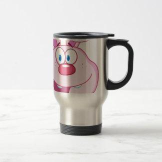 Cute Pink Bunny Cartoon Character Travel Mug