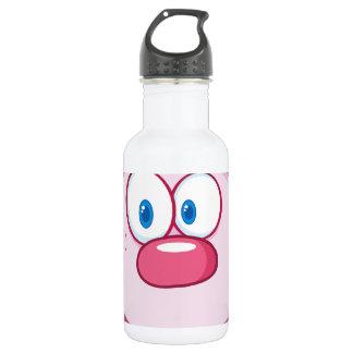 Cute Pink Bunny Cartoon Character Water Bottle