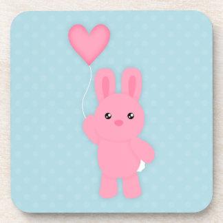 Cute Pink Bunny Coaster