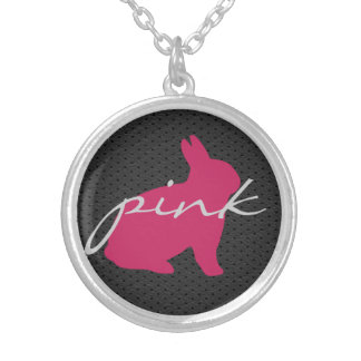 Cute Pink Bunny Fashion Necklace