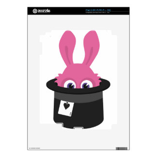 Cute pink bunny for Happy Easter Decal For The iPad 2