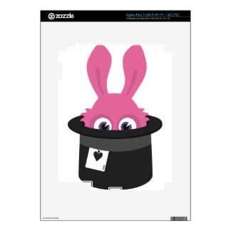 Cute pink bunny for Happy Easter iPad 3 Skins