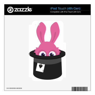 Cute pink bunny for Happy Easter iPod Touch 4G Decal