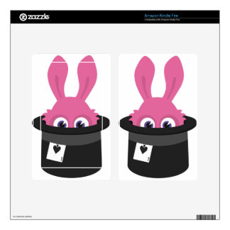 Cute pink bunny for Happy Easter Kindle Fire Decal