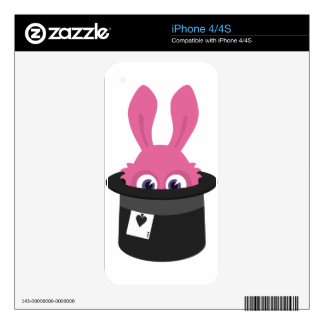 Cute pink bunny for Happy Easter Skins For The iPhone 4