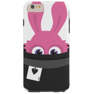Cute pink bunny for Happy Easter Tough iPhone 6 Plus Case