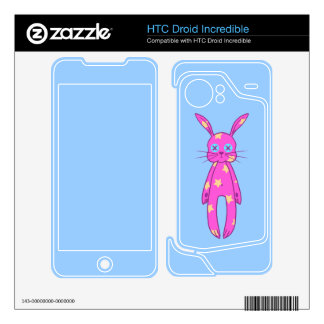 Cute Pink Bunny HTC Droid Incredible Skin