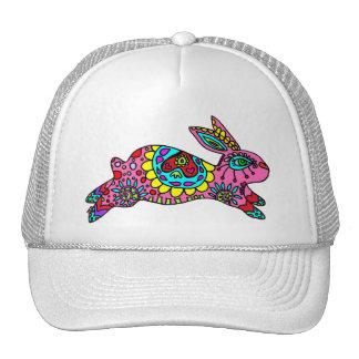 Cute Pink Bunny  Kaleidoscope Bunny Trucker Hat