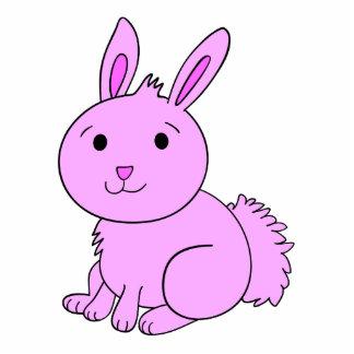 Cute Pink Bunny Photo Sculpture