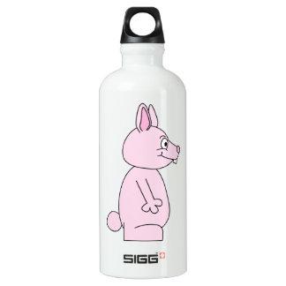 Cute Pink Bunny Rabbit Aluminum Water Bottle