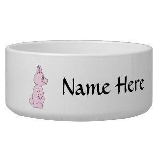 Cute Pink Bunny Rabbit Bowl