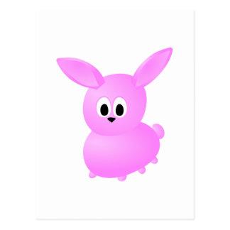 Cute Pink Bunny Rabbit. Postcard
