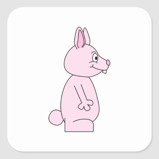 Cute Pink Bunny Rabbit Stickers