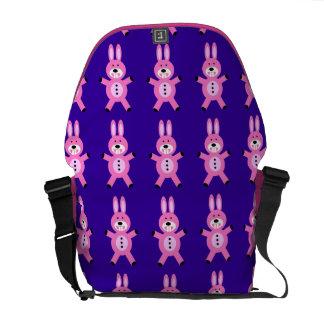 Cute Pink Bunny Rickshaw  Zero Messenger Bag