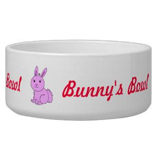 Cute Pink Bunny's Pet Bowl