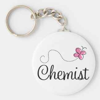 Cute Pink Butterfly Chemist Keychain