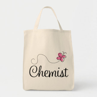 Cute Pink Butterfly Chemist Tote Bag