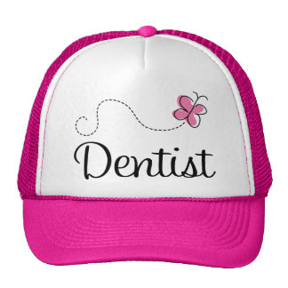 Cute Pink Butterfly Dentist Trucker Hat
