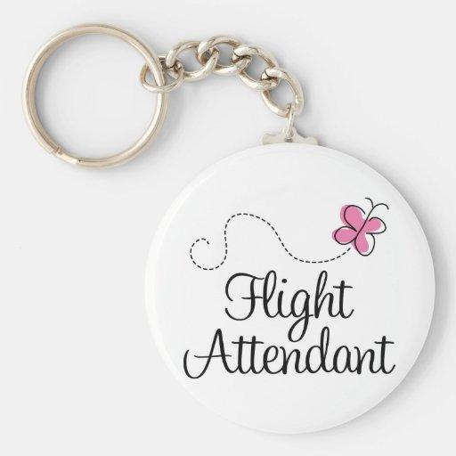 Cute Pink Butterfly Flight Attendant Key Chains