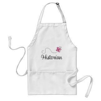 Cute Pink Butterfly Historian Apron