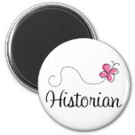Cute Pink Butterfly Historian Refrigerator Magnet