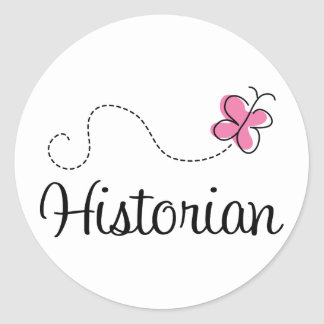 Cute Pink Butterfly Historian Stickers