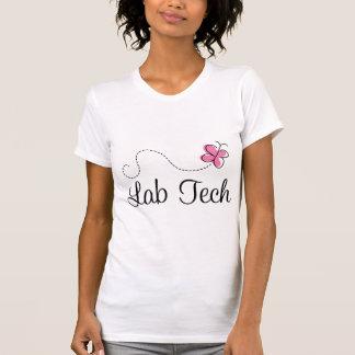 Cute Pink Butterfly Lab Tech T-Shirt