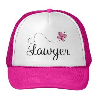Cute Pink Butterfly Lawyer Trucker Hat