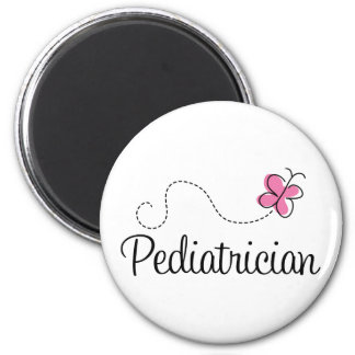 Cute Pink Butterfly Pediatrician Magnet